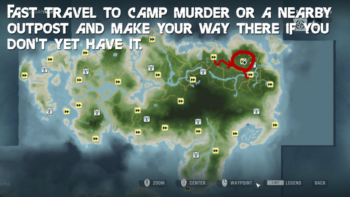 Far Cry 3 Crafting Guide - Extended Wallet - Island Map.