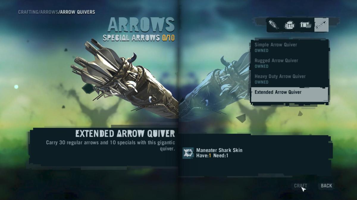 Far Cry 3 Crafting Guide - Extended Arrow Quiver: Crafting Time!