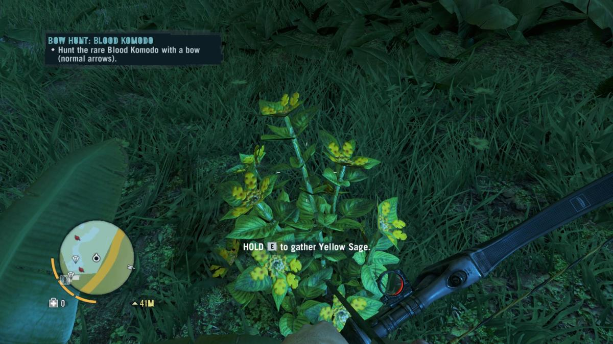 Far Cry 3 Crafting Guide - Extended Grenade Pouch: Gathering Reagents.