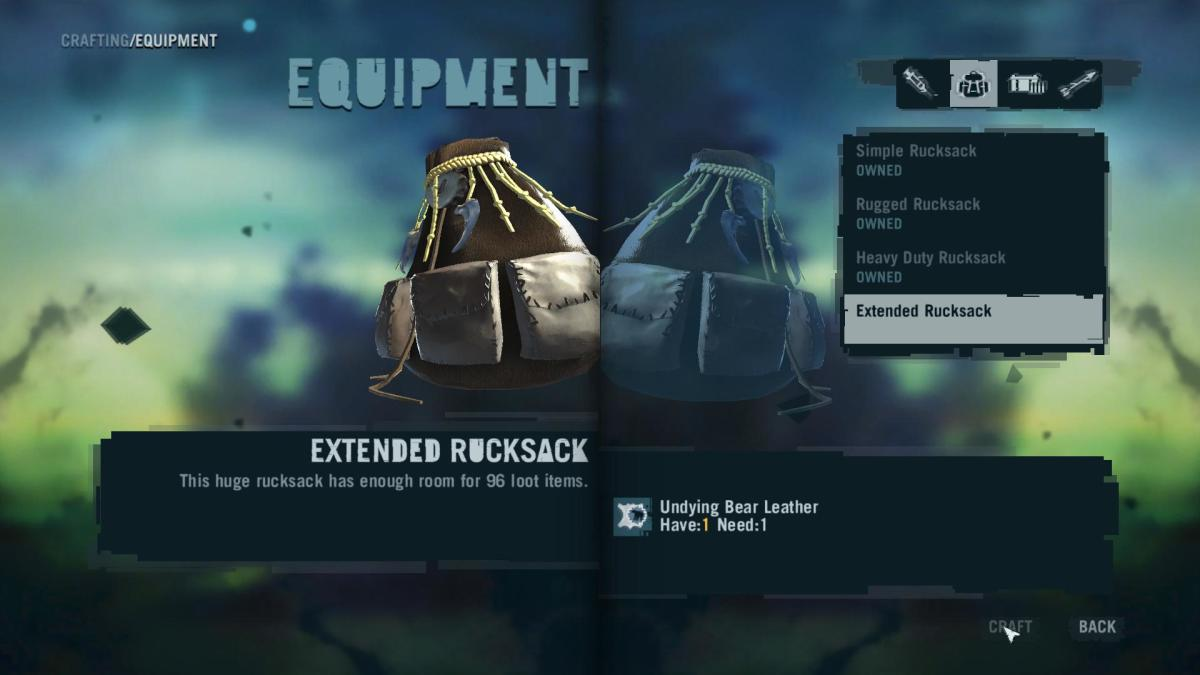Far Cry 3 Crafting Guide - Extended Rucksack: Crafting Time!