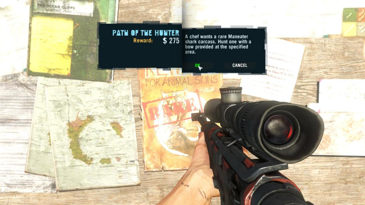 Far Cry 3 Crafting Guide - Extended Arrow Quiver: Wanted Poster.