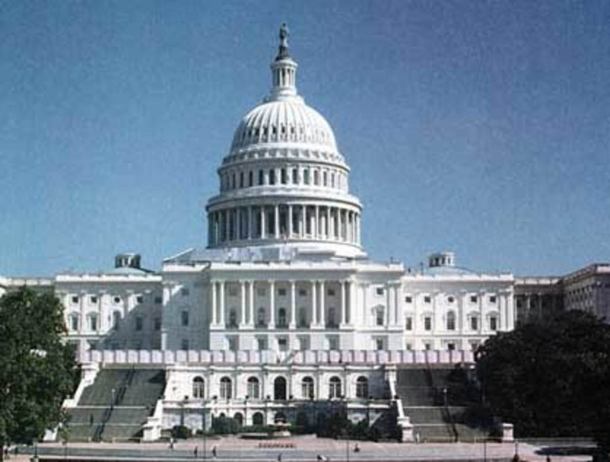 Congress meets in the Capitol Building in Washington D.C.