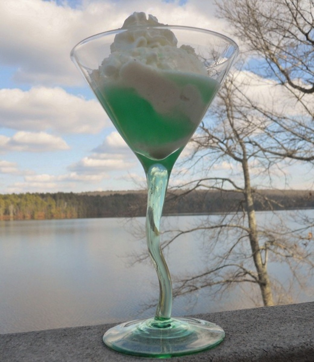 Creme de Menthe Over Ice Cream