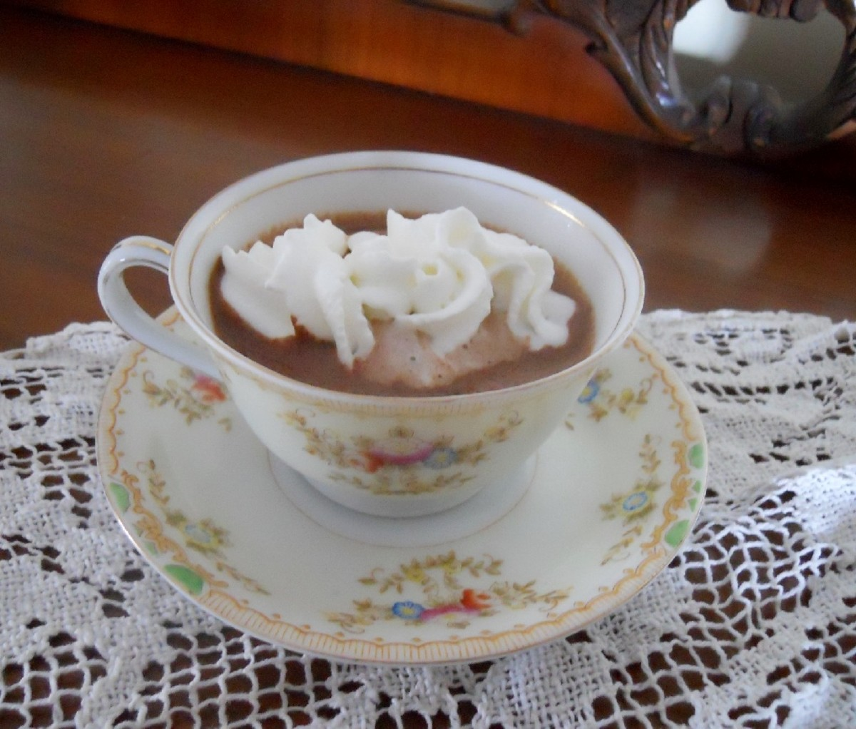Hot Cocoa With Creme de Menthe
