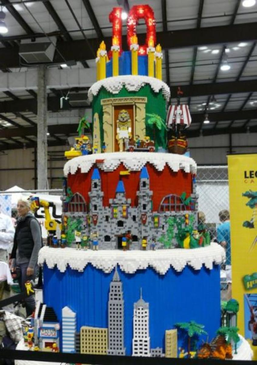 lego city birthday party centerpiece