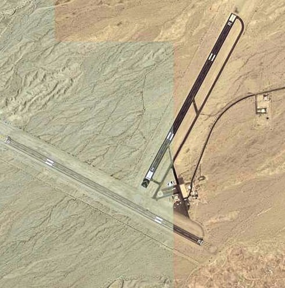Needles Airport was  photographed by the United States Geological Survey, an agency of the United States Department of Interior.