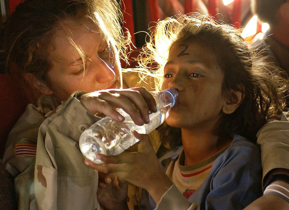 Better to drink bottled water than to lose water and life from dysentery.