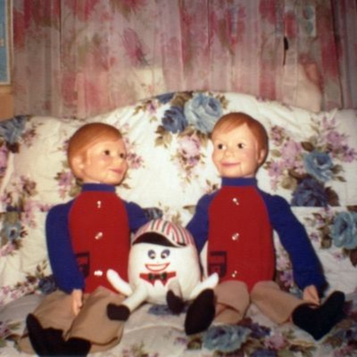 A Duo of Simon Sez's, toy ventriloquist dolls of the 1970s manufactured by the Horseman doll company