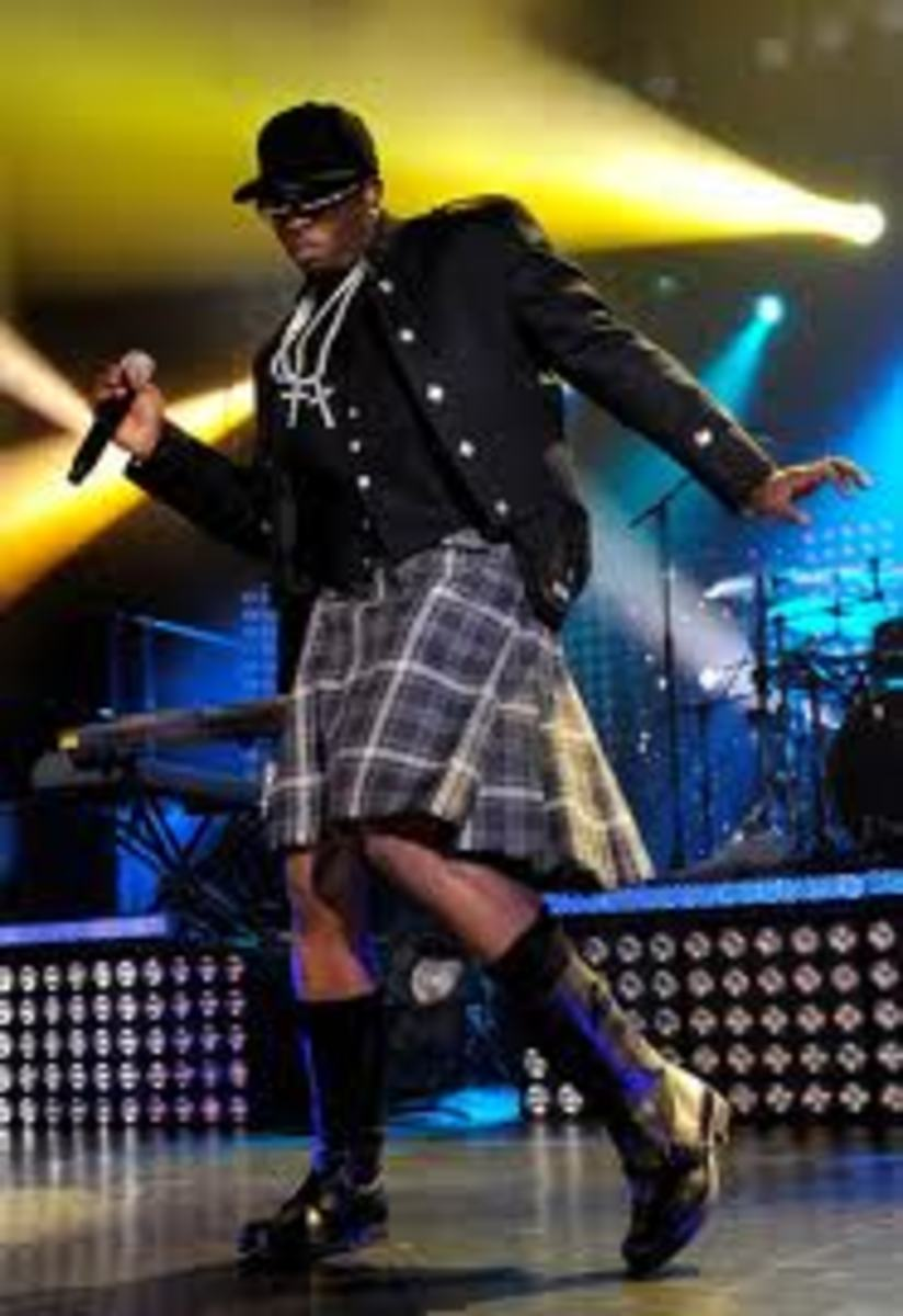 P. Diddy Wearing a Skirt - Famous Rap Mogul