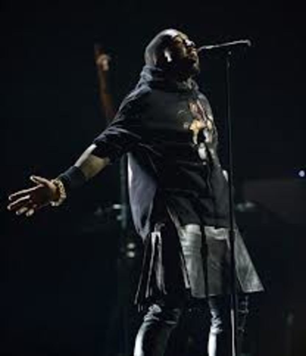 Kanye West Wearing a Skirt - Famous Rap Star