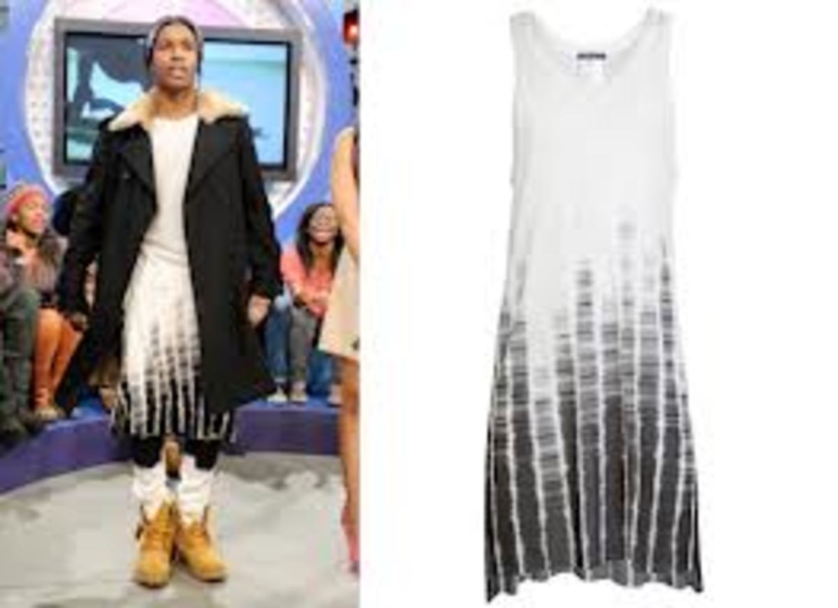 ASAP Rocky Wearing a Dress - Famous Rapper