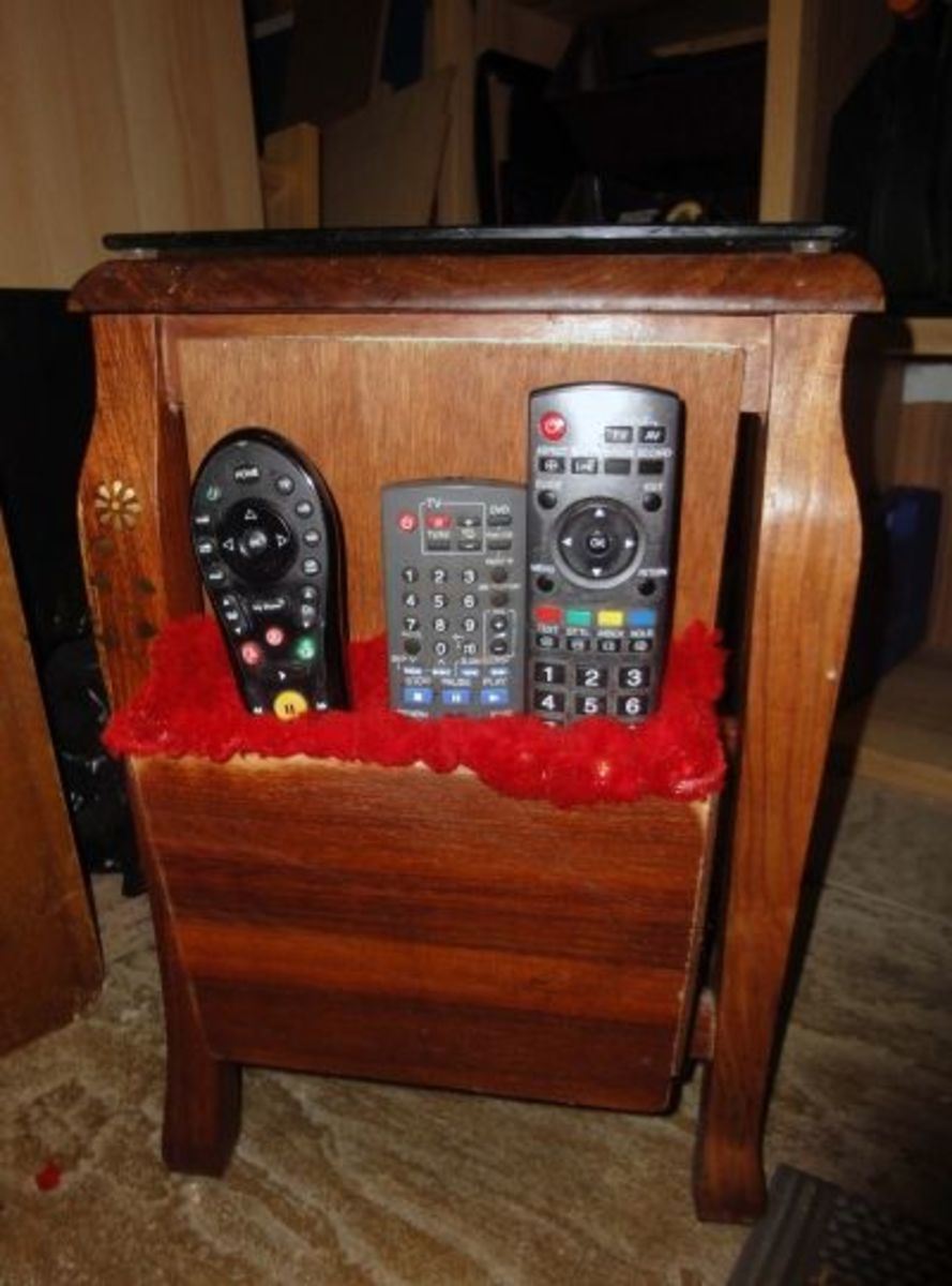 Bespoke Caddy for Remote Controls