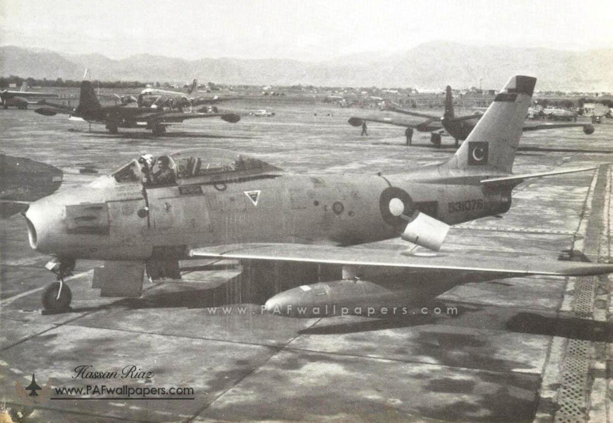 F-86 Sabre, same were used by No 14 squadron stationed in Dhaka.