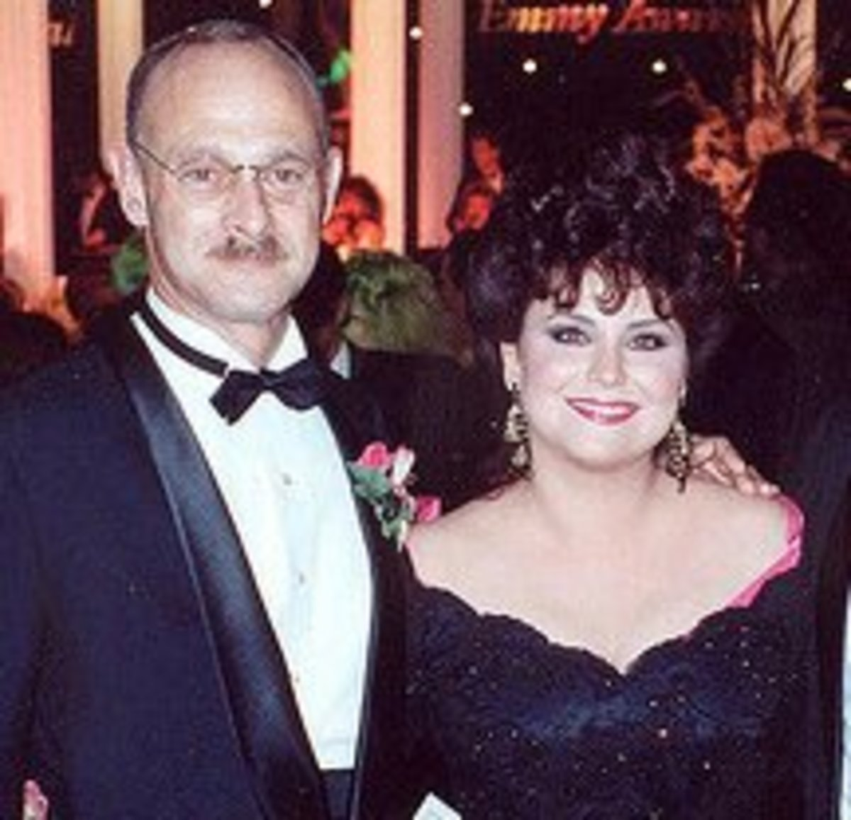 Gerald Macraney and wife, full-figured star, the beautiful Delta Burke. Burke now creates flattering and comfortable plus-sized fashions.