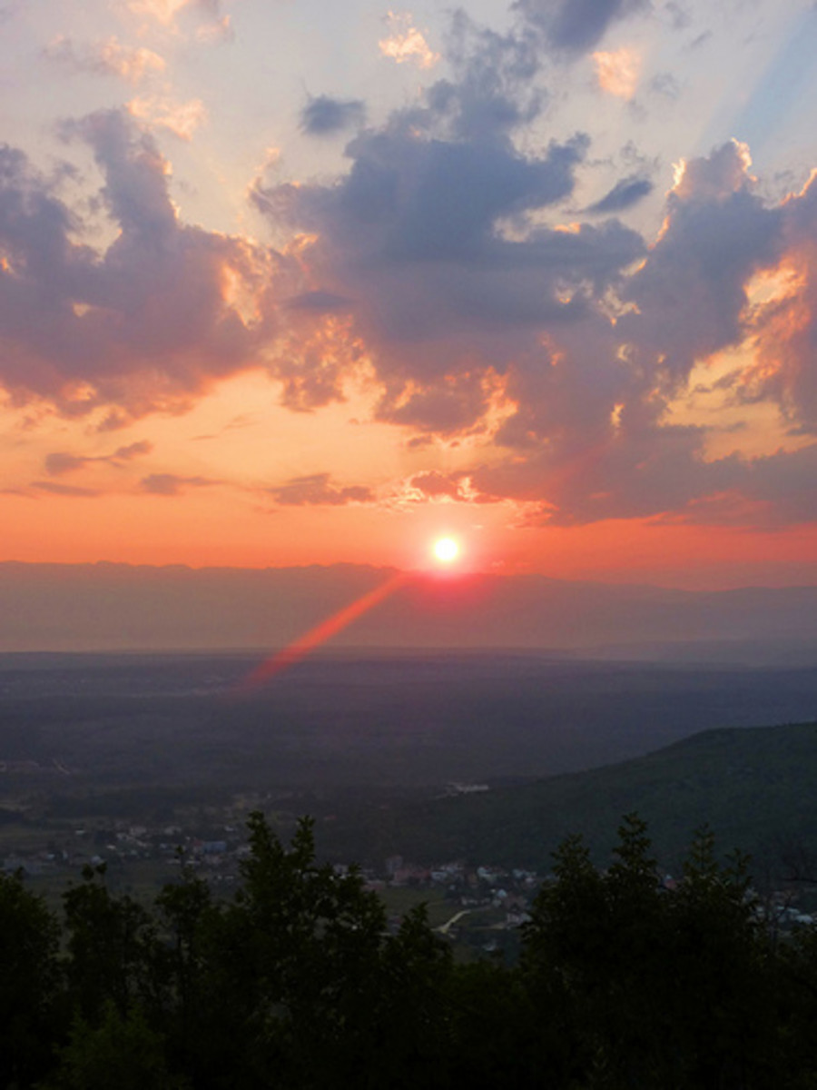 Sunrises and sunsets are often very popular.