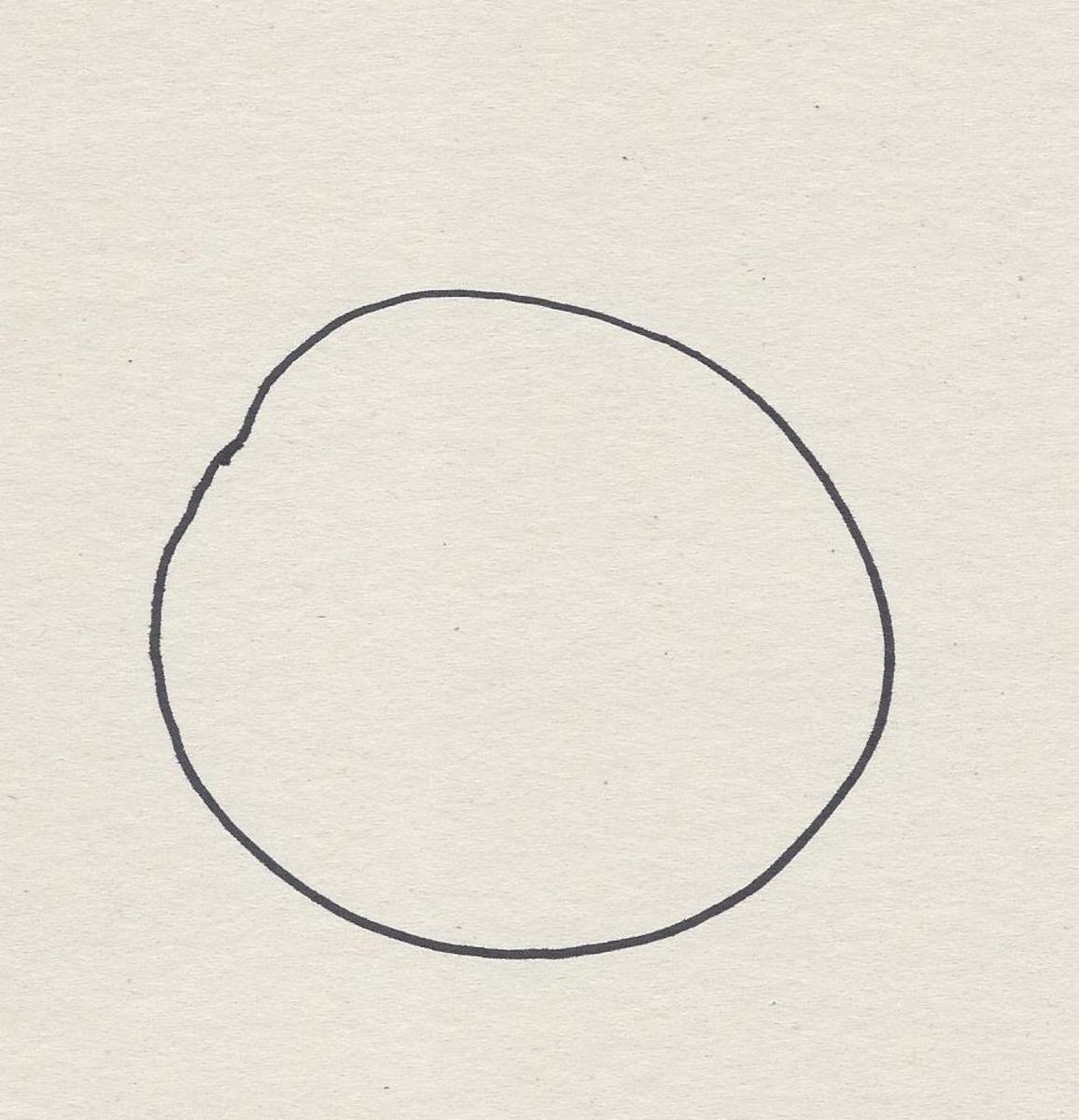 Draw a circle.