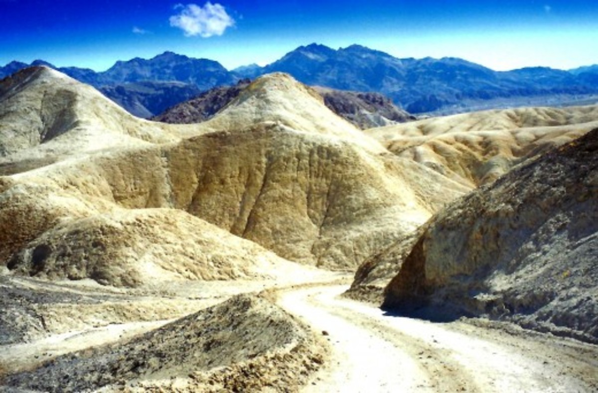 20 Mule Team Canyon in Death Valley