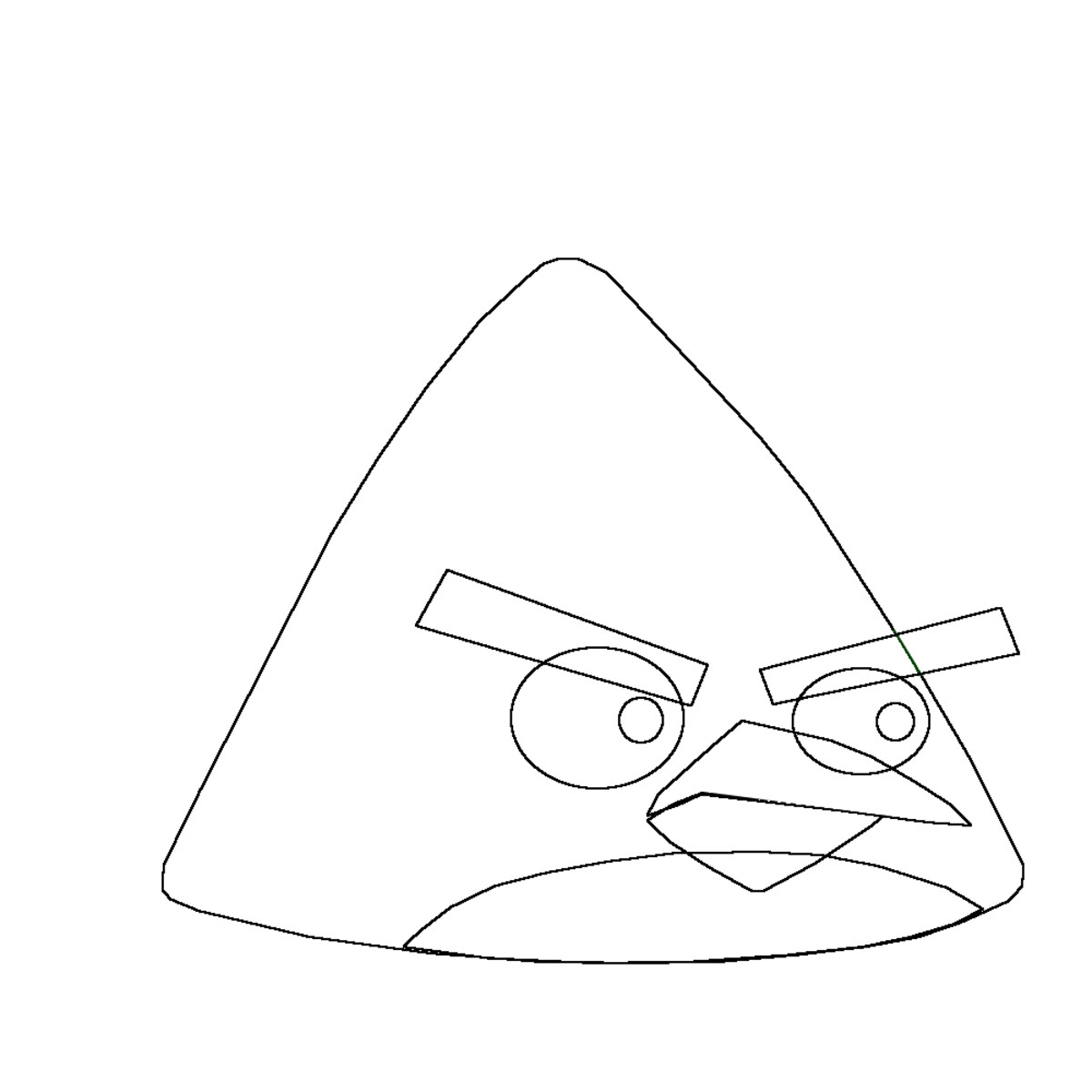 The beak area of the Angry Bird.