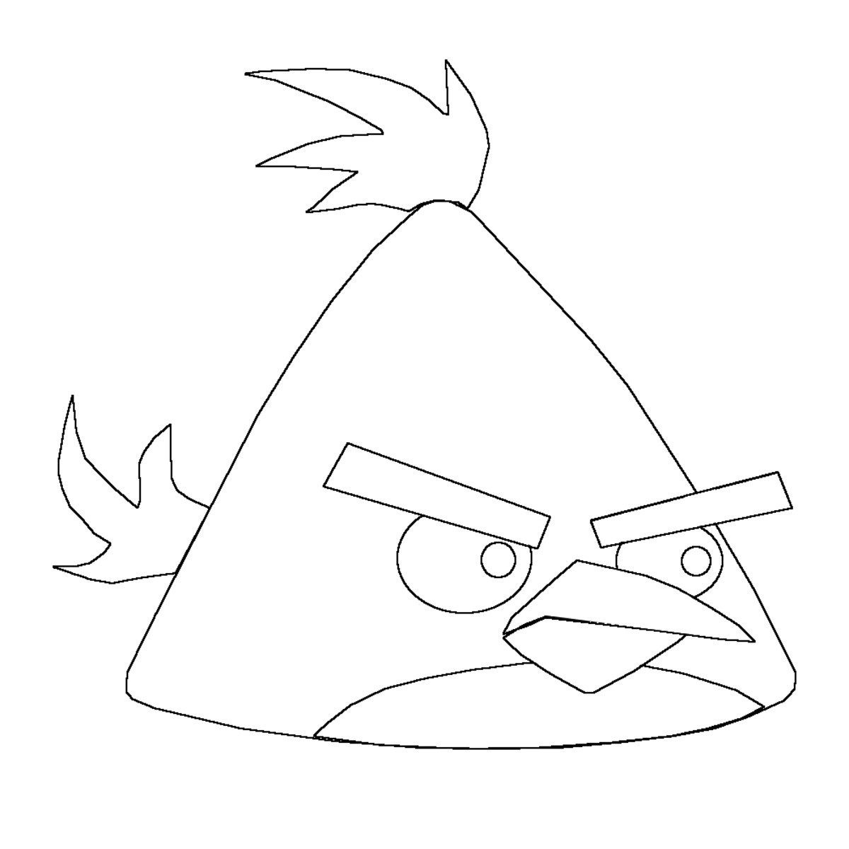 Rubbing out unwanted lines on the Angry Bird.