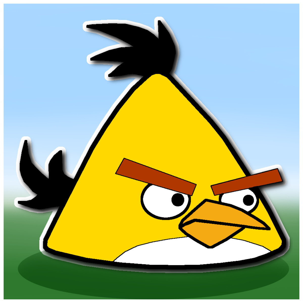 The finished Yellow Angry Bird to help you know what it looks like.
