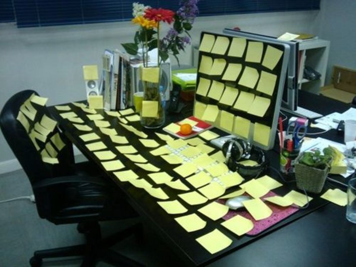 Post It Note Prank
