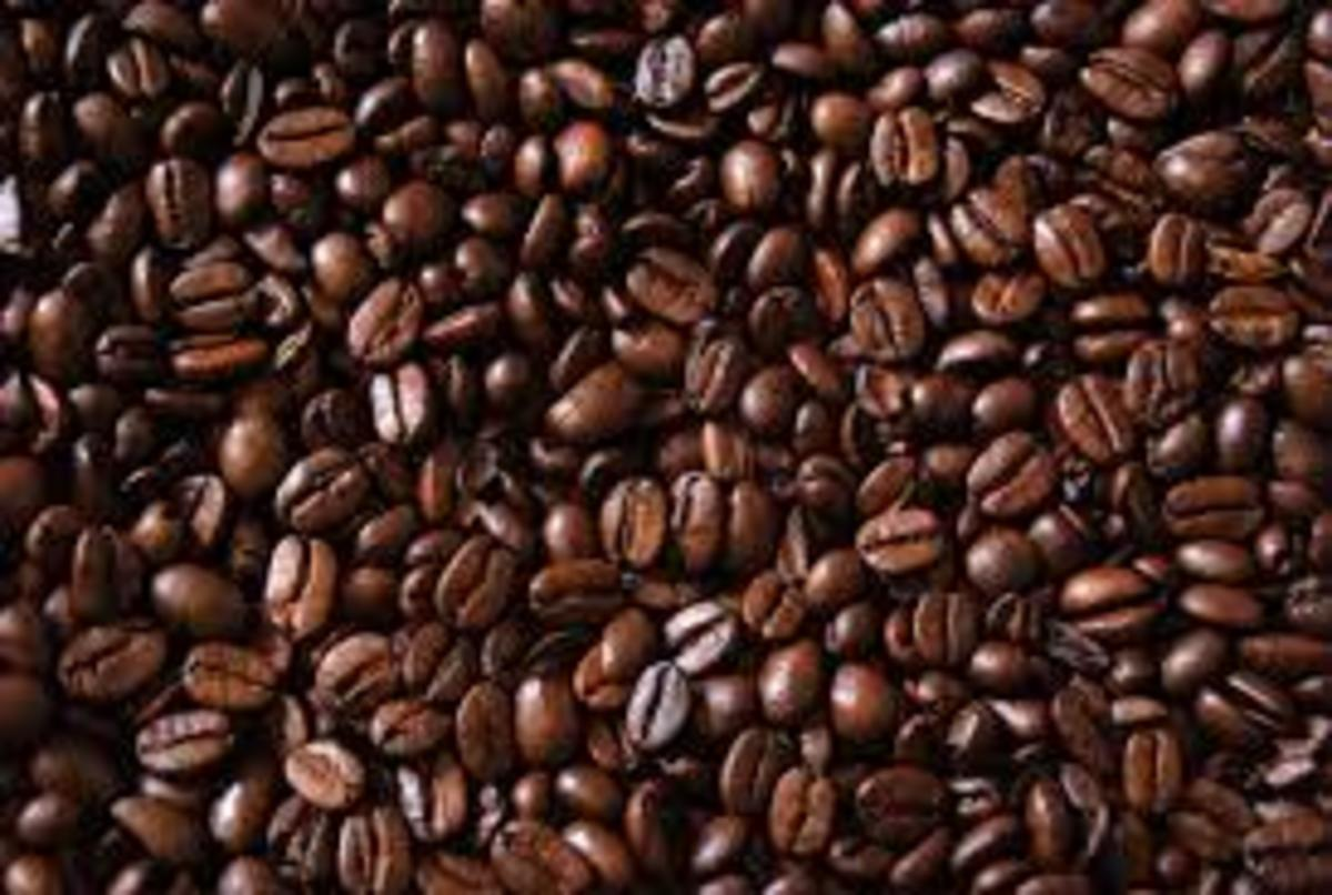 Coffee beans are dried, sorted, graded by size and weight, and roasted