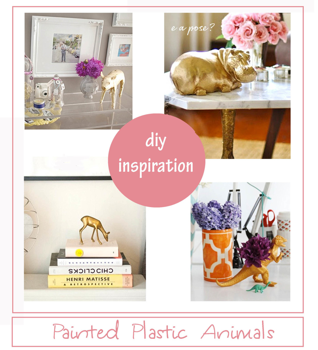 Painted Plastic Animals: DIY Inspiration for All Sorts of Celebrations!