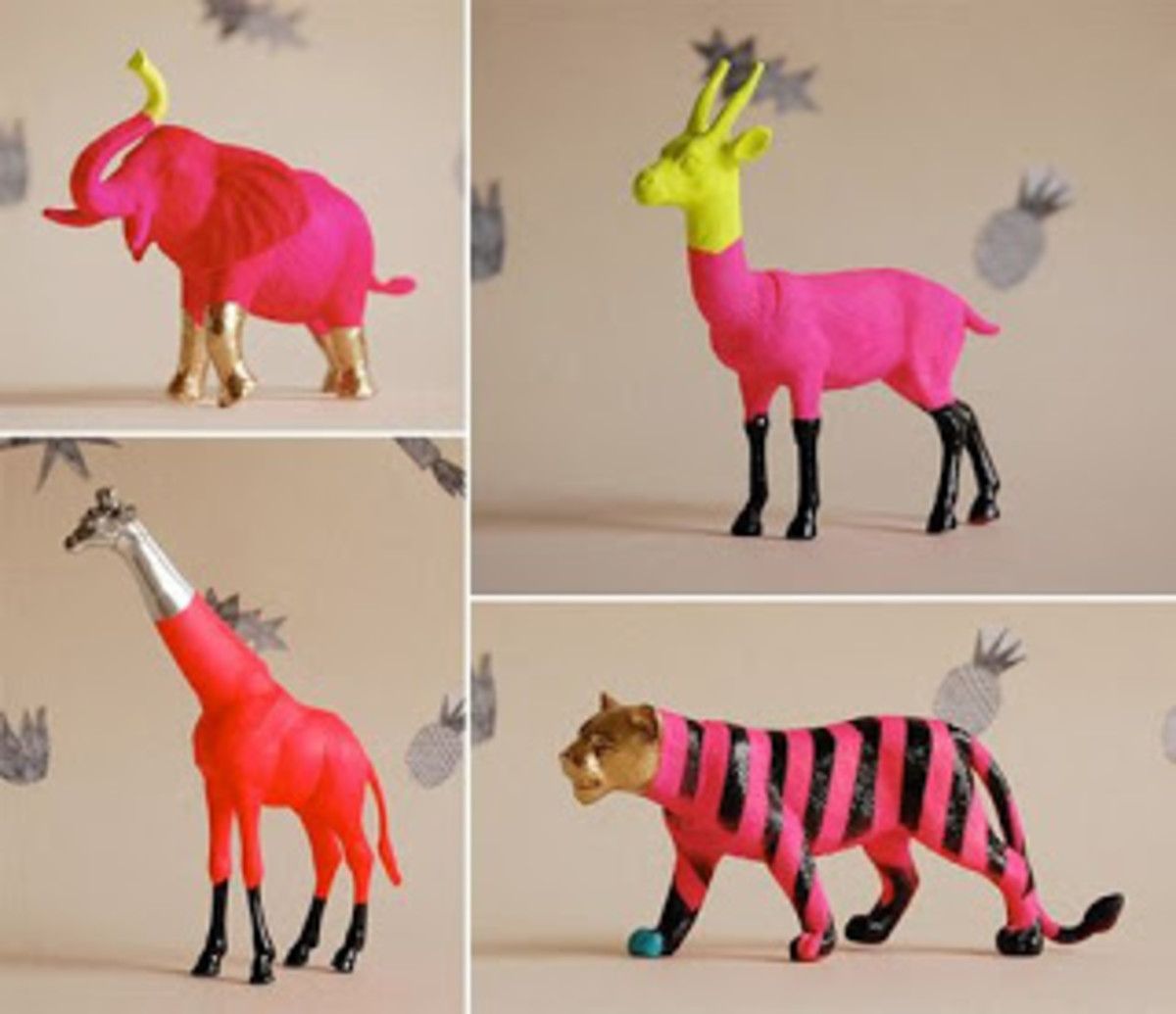 Painted Plastic Animals Diy Inspiration For All Sorts Of