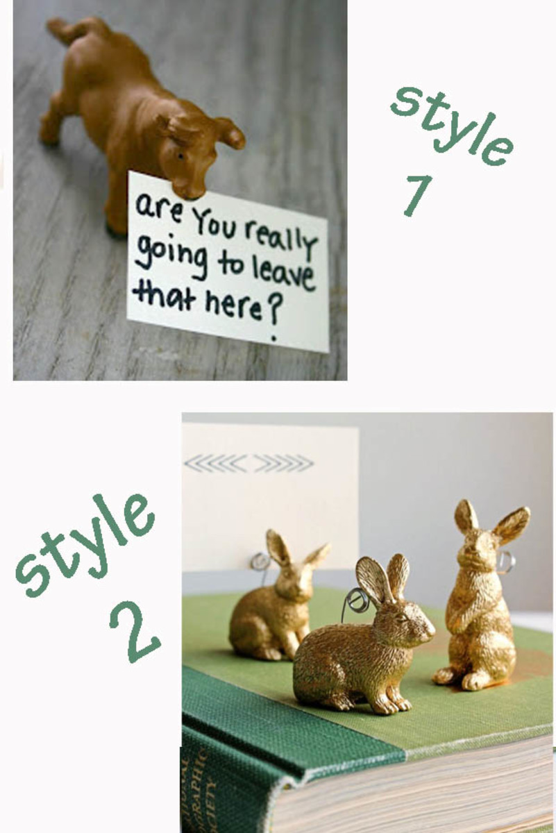 Place card holders may be for special occasions in your home, but don't forget they can be note holders, as well.