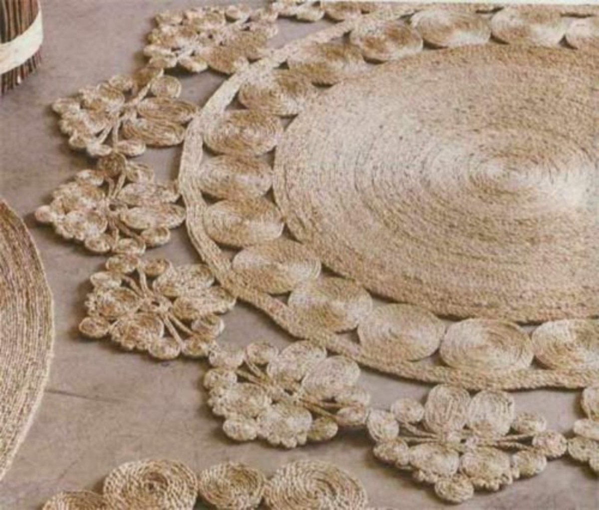 DIY rustic rug