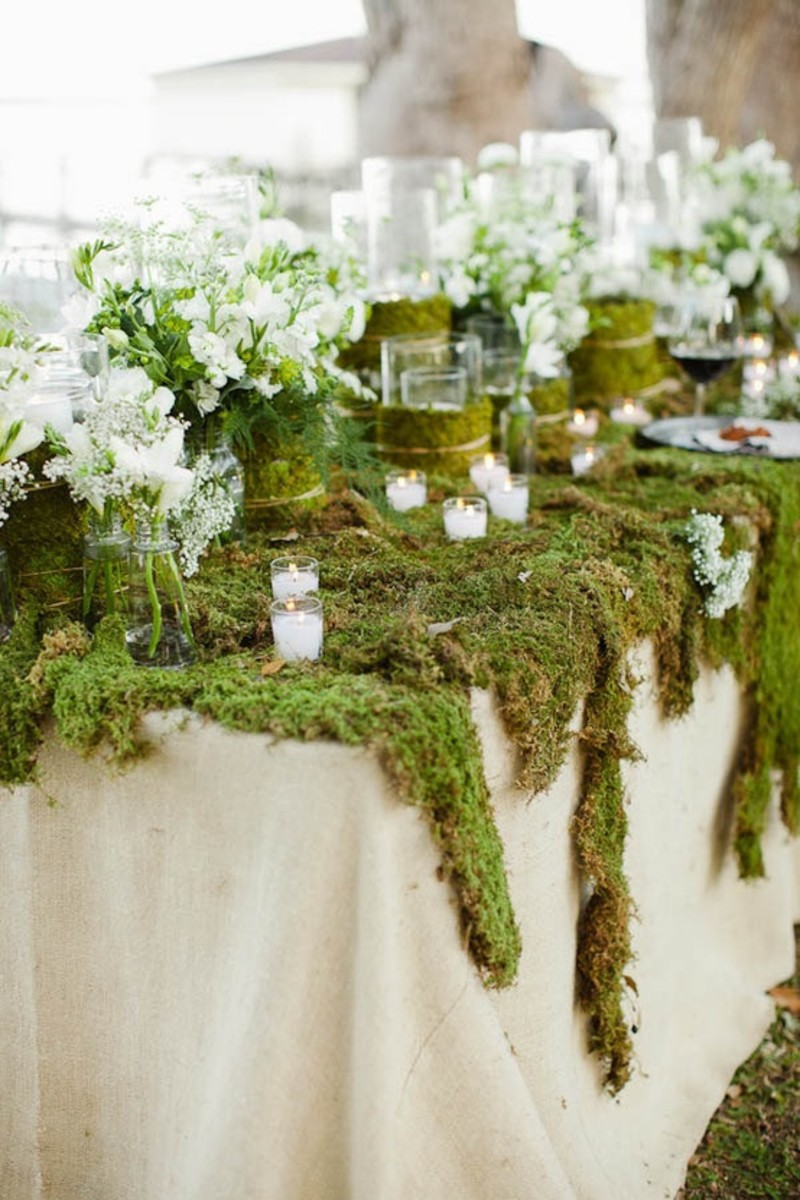 mossy table