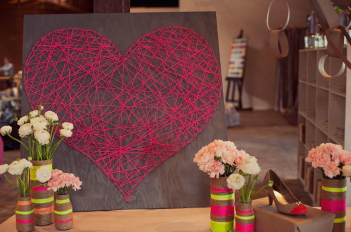 DIY String Heart Craft