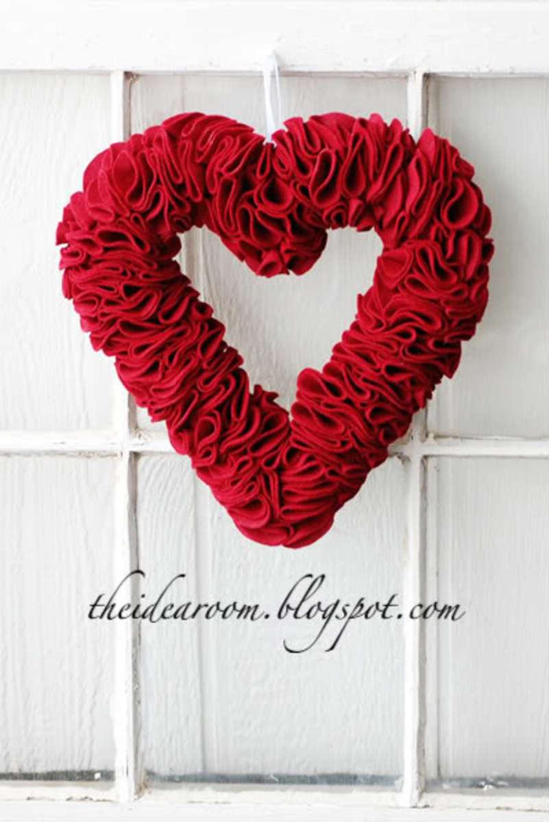 Heart Shaped Wreath DIY