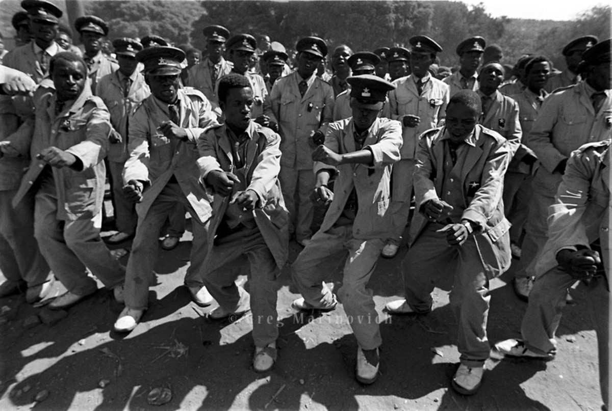 Lekganyane's ZCC Church Males Dancers and singers