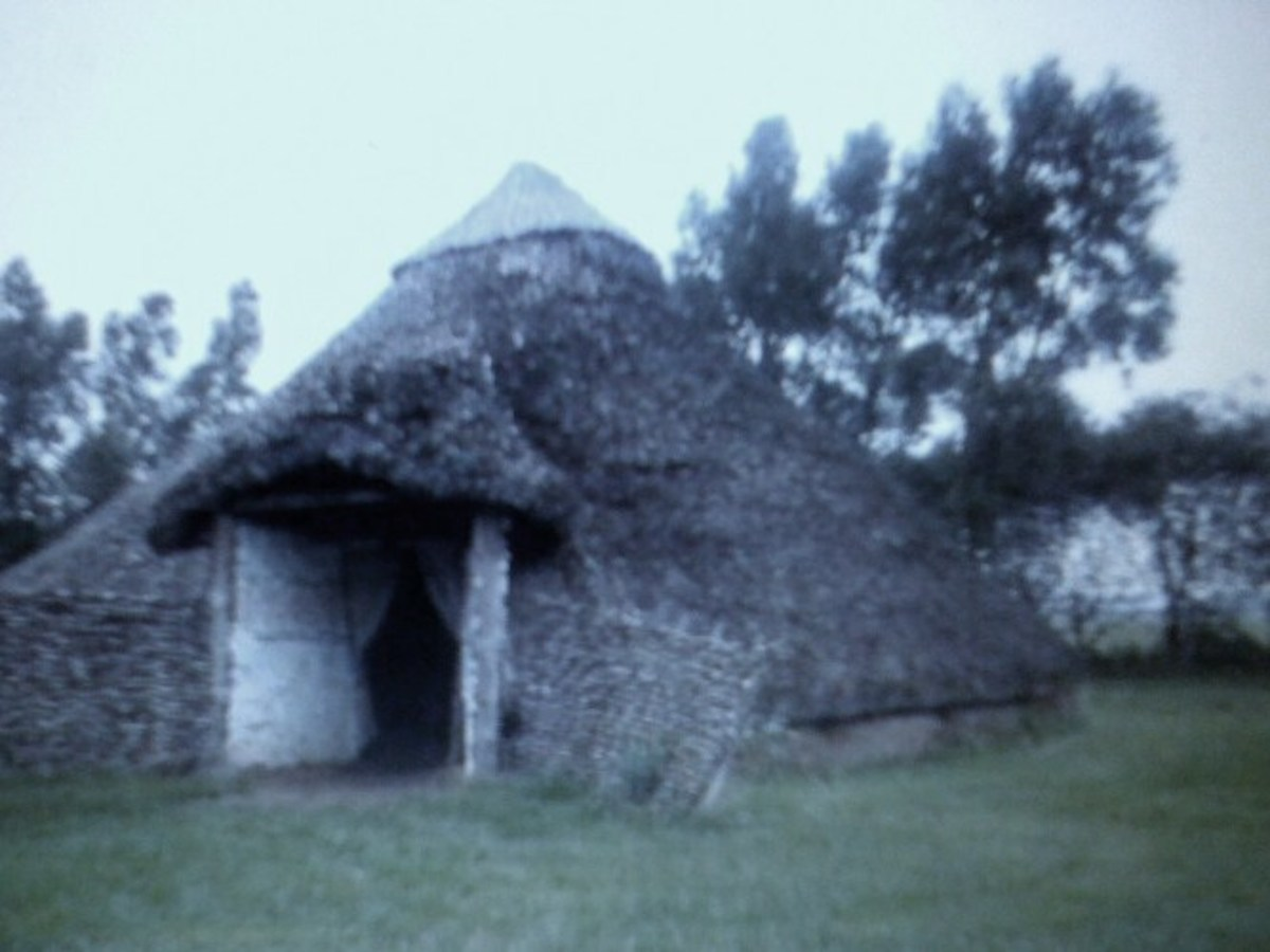 A roundhouse similar to the housing used around the time of St Patrick