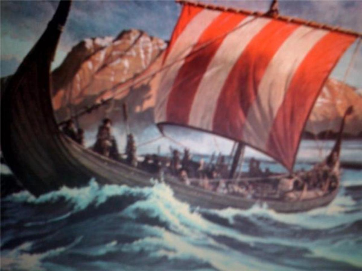 A Viking Dragon Ship