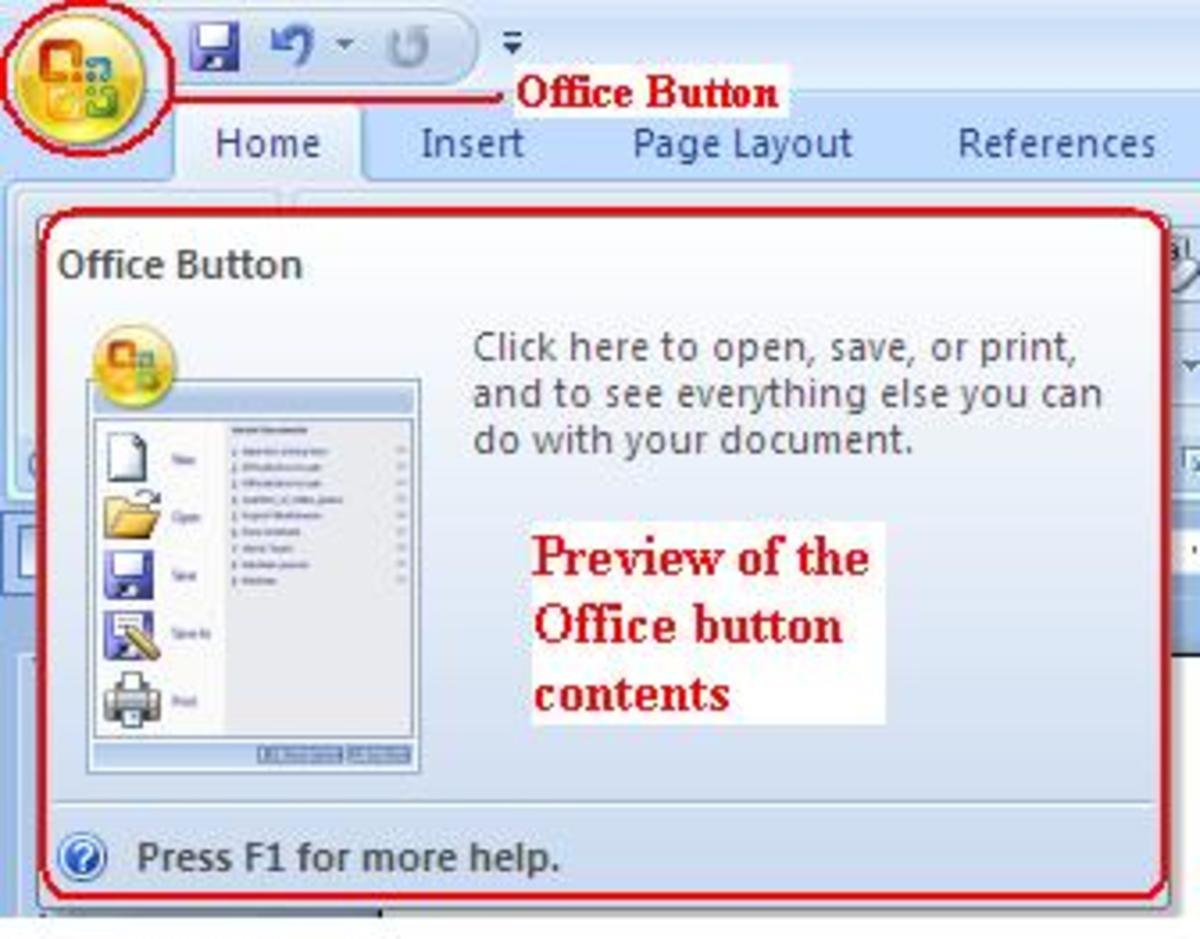 Introduction to Microsoft Office Word 2007 and How to Use the Office Button