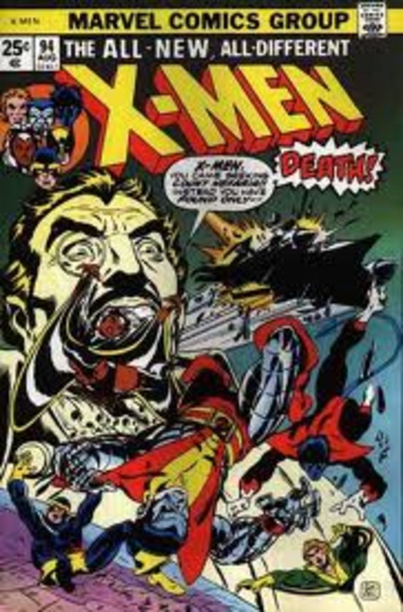 The X-Men battle an extremely large head.