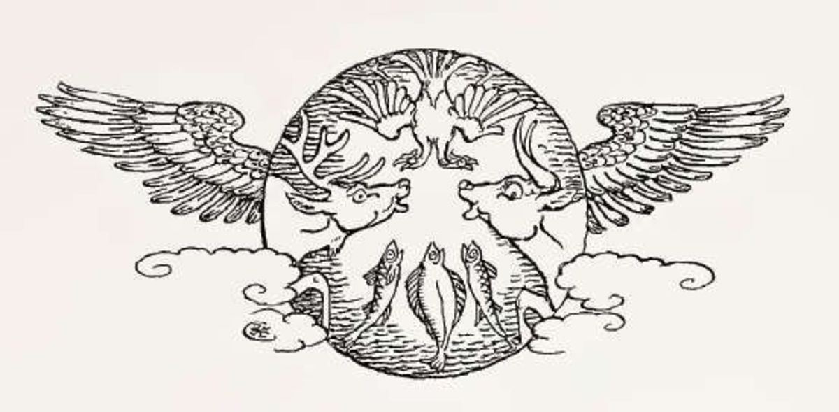 Typical vignette in Walter Crane's style