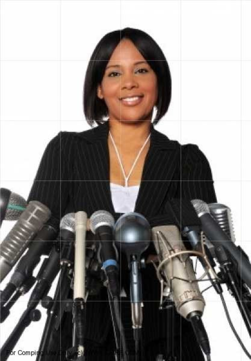 See this confident public speaker? You too can become effective in public speaking!
