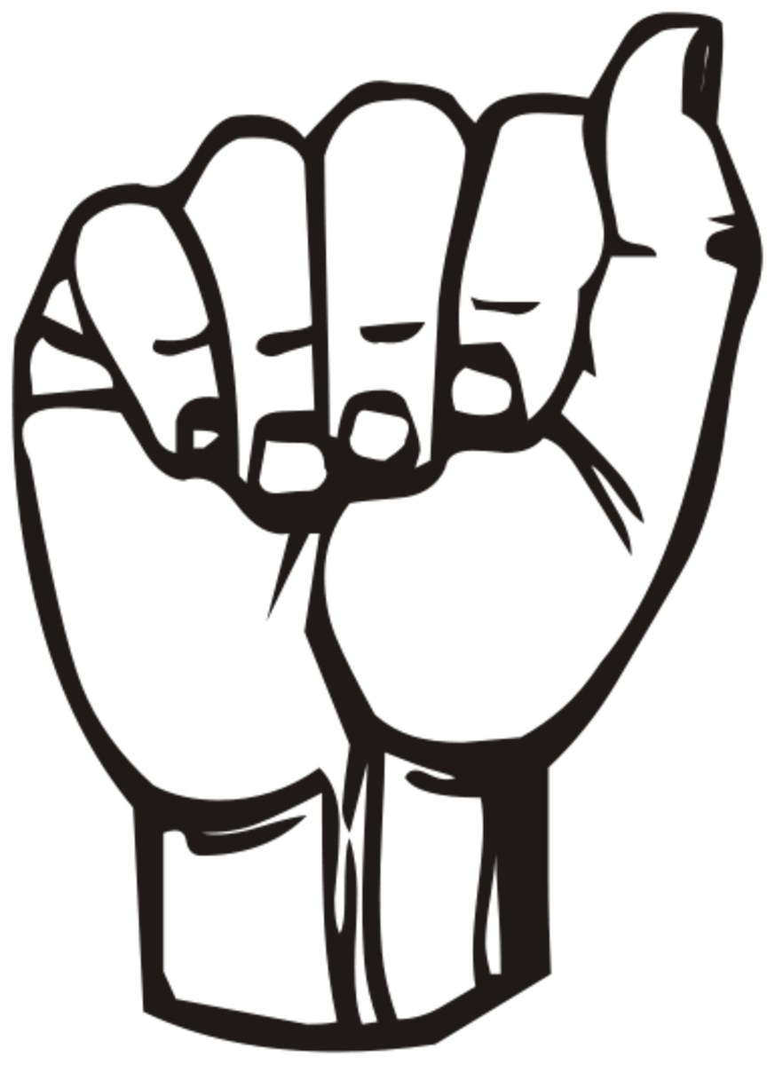 "The letter ""A"" in American Sign Language."