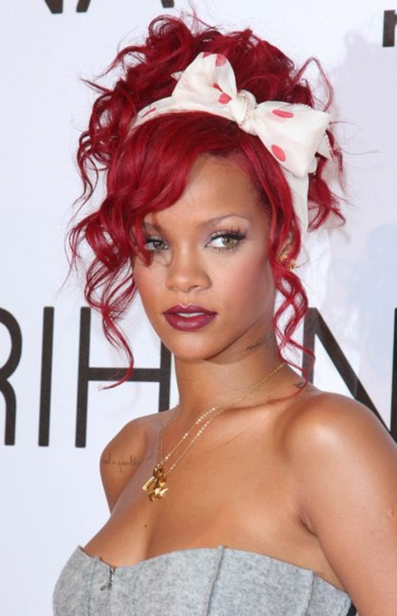 Rihanna gave inspiration for girls to go red.