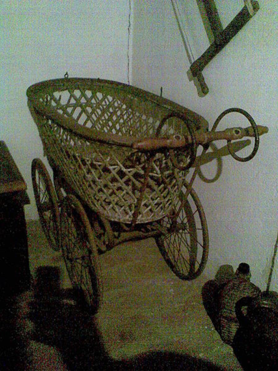 Polish baby pram from the 1800's.