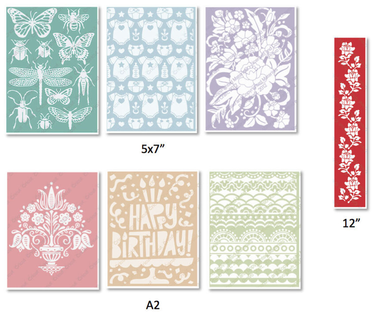 Cuttlebug embossing folders offer a wealth of design opportunities, They come in different sizes for all of your needs. They can also be used in other embossing machines