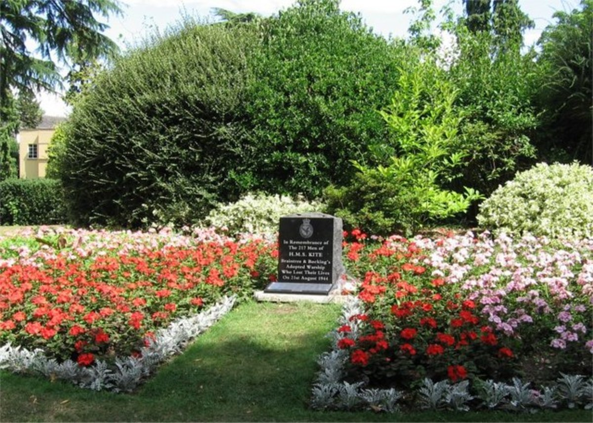 This Memorial was placed in the Public Gardens at Braintree, Essex. This ship was lost with all hands while escorting a convoy to Murmansk, WW 2