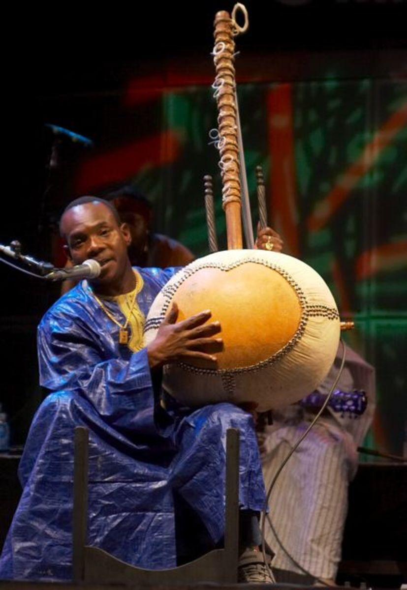 Cora, a harp-lute from West Africa