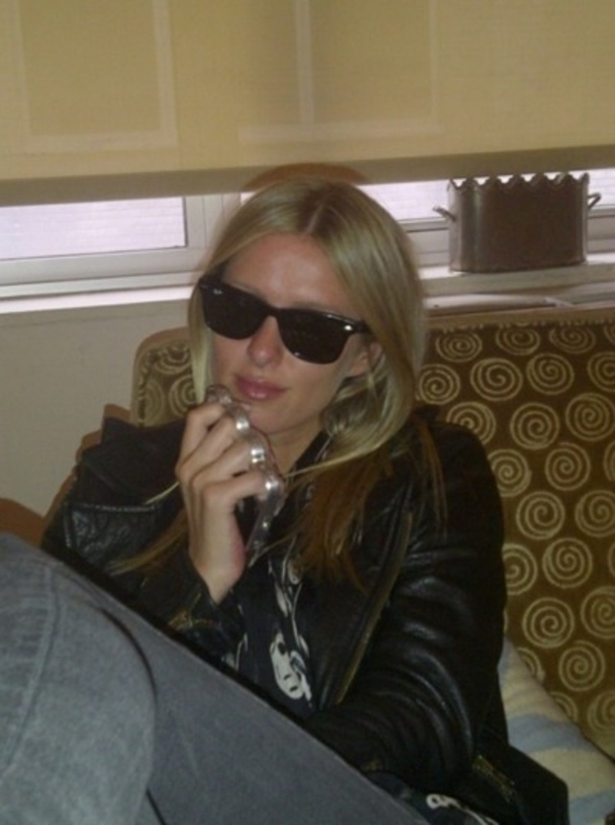 Paris Hilton's sister Nicky with her knuckle case