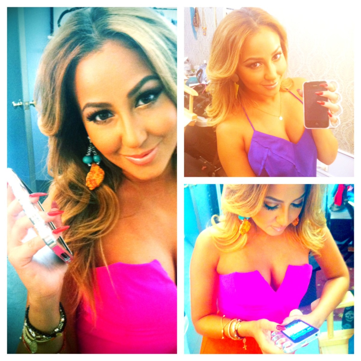 Adrienne Bailon poses with her knuckle case