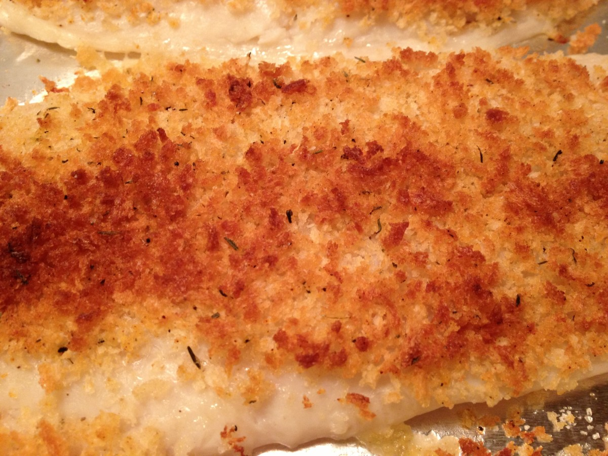 Baked Basa Fillets with Breadcrumb Topping Recipe