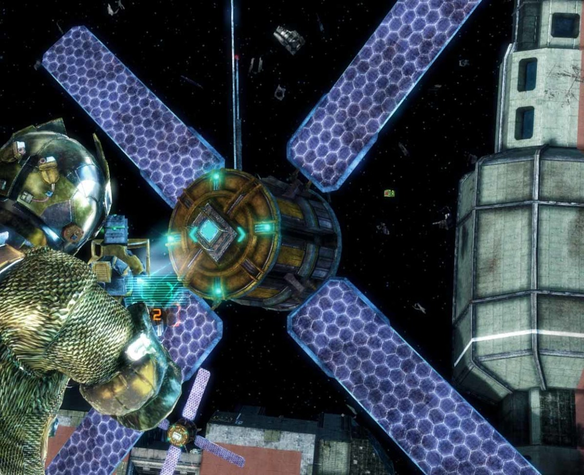 Dead Space 3 Collect Flight Recorder from Satellite